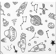 """Coton à colorier """"Dans l'espace"""""""
