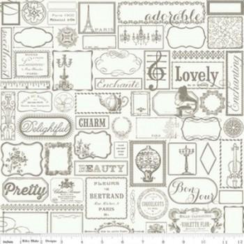 Label in Gray, Riley Blake