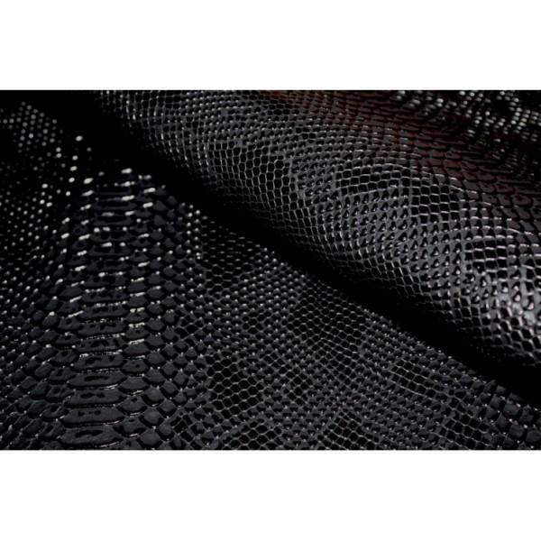 Simili cuir Croco Noir