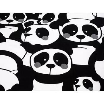 Sweat bouclettes Pandas gris