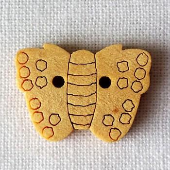 Bouton bois Papillon