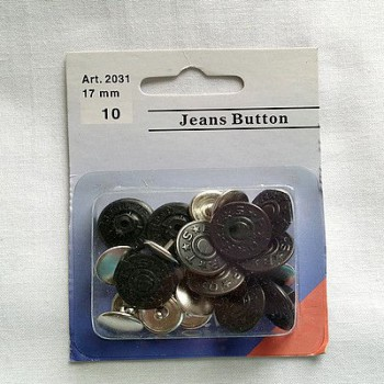 Bouton Jean's noir