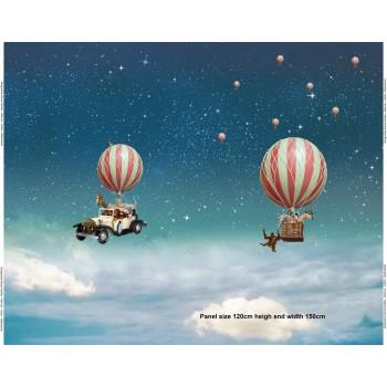 """Panneau jersey Stenzo """"Voyage en ballon"""""""