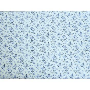 """Coton """"Petites fleurs"""", bleue"""
