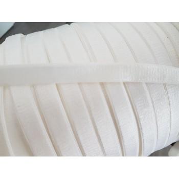 Elastique plat blanc satiné